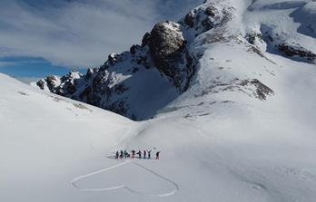 Enjoyable ski touring in the Dolomites